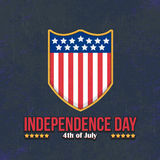 Independence Day. United States of America 4th of July Happy Independence Day Announcement Celebration Message Poster, Flyer, Card, Background Vector Design Stock Image