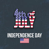 Independence Day. United States of America 4th of July Happy Independence Day Announcement Celebration Message Poster, Flyer, Card, Background Vector Design stock illustration