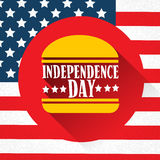 Independence Day United States American Holiday Burger Stock Image