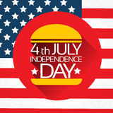 Independence Day United States American Holiday Burger Stock Photo
