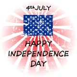 Happy Independence Day, July 4th. Independence Day of the United States. Can be used for 4th july as party invitation, background , backdrop, ad, sale promotion Vector Illustration
