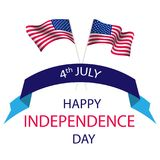 Happy Independence Day, July 4th. Independence Day of the United States. Can be used for 4th july as party invitation, background , backdrop, ad, sale promotion Stock Photos