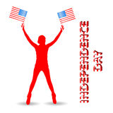 Independence Day United States. The girl Royalty Free Stock Photography