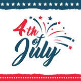 Independence Day of the United States poster set Royalty Free Stock Images