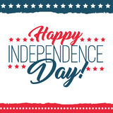 Independence Day of the United States poster set vector illustration