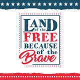 Independence Day of the United States poster set royalty free illustration