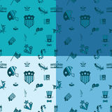Independence Day of the United States. 4th of July, Independence Day of the United States, Four Background in Different Colors Vector Stock Photography