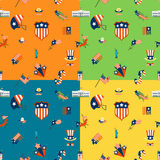 Independence Day of the United States. 4th of July, Independence Day of the United States, Four Background in Different Colors Vector Royalty Free Stock Photography