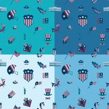 Independence Day of the United States. 4th of July, Independence Day of the United States, Four Background in Different Colors Vector Royalty Free Stock Photos