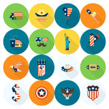 Independence Day of the United States. 4th of July, Independence Day of the United States, Simple Flat Icons. Vector Stock Photography