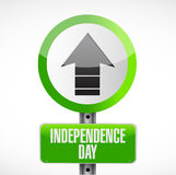 Independence day up arrow sign illustration Stock Images