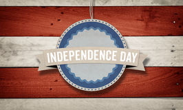 Independence Day, US American flag concept background. Independence Day text with US American flag concept background Stock Photography