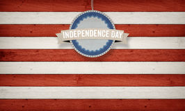 Independence Day, US American flag concept background. Independence Day text with US American flag concept background Stock Image