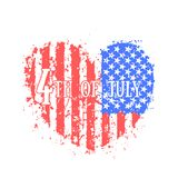 Independence Day in USA, abstract heart Stock Photography