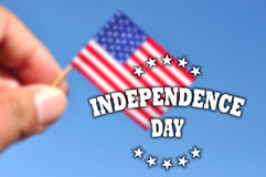 Independence Day usa banner with american flag Royalty Free Stock Images