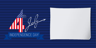 Independence day USA banner fly Royalty Free Stock Images