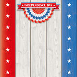 Independence Day USA Bunting Wood Royalty Free Stock Photos