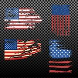 Independence day USA flags United States american symbol freedom   Stock Image