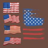 Independence day USA flags United States american symbol freedom national sign vector illustration Stock Image