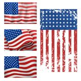 Independence day USA flags United States american symbol freedom national sign vector illustration Royalty Free Stock Photography