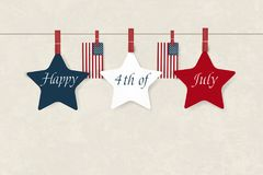 Independence day USA. Fourth of July. American patriotic illustration. Design Template background with American Flag for. Greeting cards, posters, flye, banner Royalty Free Illustration