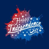 Happy independence day of USA. Independence day of USA greeting card, national flag design Royalty Free Stock Photography