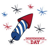Independence day. Usa icon. Celebration concept , vector. Independence day concept with icon design, vector illustration 10 eps graphic Stock Images