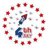 Independence day. Usa icon. Celebration concept , vector. Independence day concept with icon design, vector illustration 10 eps graphic Royalty Free Stock Image
