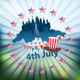 Independence day usa, . Illustration design. Stock Photos