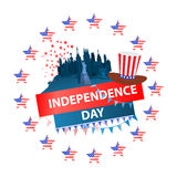 Independence day usa, . Illustration design. Royalty Free Stock Photo