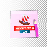 Independence day usa, . Illustration design. Royalty Free Stock Photography