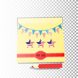 Independence day usa, . Illustration design. Stock Image