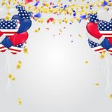 Independence day of the usa sale banner template design. Eps .10 Stock Image