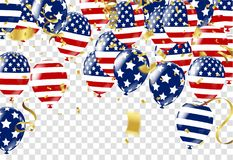 Independence day of the usa sale banner template design. Eps Stock Photography