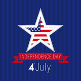Independence day USA star Stock Image