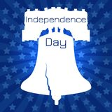 Independence Day of the USA. Liberty Bell. Silhouette with stars on background. Independence Day of the USA. 4th of July. Concept of holiday. Liberty Bell stock illustration