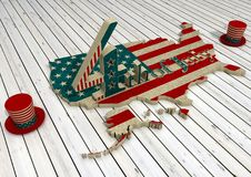 Independence day of the usa 4th july. Happy independence day - 3D Render Vector Illustration