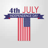 Independence day USA 4th july. Vector illustration Royalty Free Stock Photos