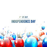 Independence day - vector background Stock Photography