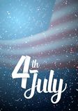 The Independence Day Vector Poster Royalty Free Stock Photography