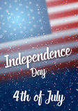 Independence Day Vector Poster Royalty Free Stock Photos