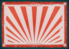Independence Day Vintage Horizontal Poster Stock Images
