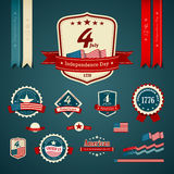 Independence day vintage label Royalty Free Stock Images