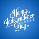 Independence day vintage lettering background Stock Image