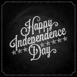 Independence day vintage lettering chalk Stock Photo