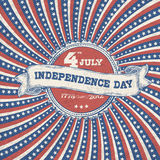 Independence day vintage poster design. Royalty Free Stock Photos