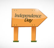 independence day wood sign illustration design Royalty Free Stock Photo