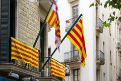 Catalonian flags Stock Photos