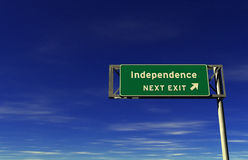 Independence - Freeway Exit Sign Stock Photography