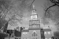 Independence Hall in black and white Stock Photography